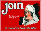 7612.Join me.American red cross.nurse with white hat.POST...