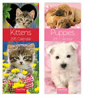 Slim Line Cute Kittens & Puppies 2015 Calendar Wall Planner Year Month to View