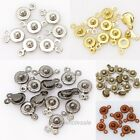 30 Set Snap Various Color Fastener Clasp Hooks Connectors For Jewelry DIY 15x8mm
