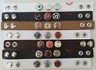 Noosa Style Complete Leather Bracelet with Snap On Chunk Button Charms Amsterdam