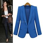 Candy Color OL Ladies Fashion Korean Solid Slim Casual Suits Blazer Coat Jacket