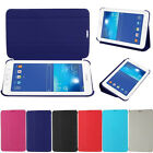 Three Fold PU Leather Flip Stand Case Cover For Samsung Galaxy Tab 3 Lite T110