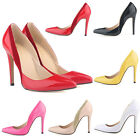 WOMENS PATENT PU HIGH HEELS  STYLE WORK PUMPS STILETTOS SHOES GIFT SIZE US4-11