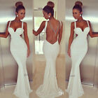 Fashion Sexy Lady Sleeveless Prom Ball Cocktail Party Dress Formal Evening Gown