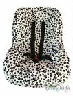 BRAND NEW Baby Toddler Kids Minky Car Seat Cover - BLACK & WHITE SKULLS PRINT
