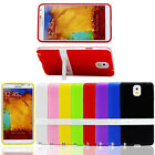 New Rubber TPU Silicone Case Stand Skin Cover for Samsung Galaxy Note 3 N900A