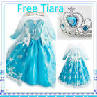 Frozen Princess Elsa Anna Queen Costume School Birthday Party Dresses AGE 3 - 8Y