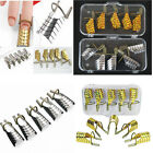 5/10Pcs Gold/Silver Reusable UV Gel Acrylic Nail Art Tips Extension Guide Forms