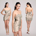Womens Stunning Sexy Strapless Cocktail Party Occasion Mini Dress Clubwear Bling