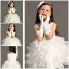 Off Whites Christening Wedding Party Flower Girls Dresses SIZE 2T,4T,6T,8T,10T
