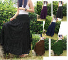 LONG BROOMSTICK SKIRT / DRESS - CRINKLE, GYPSY, BOHO, HIPPY, GOTH