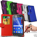 Samsung Galaxy Ace Style PU Leather Book Wallet Case Skin Cover Screen Protector
