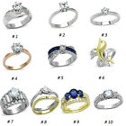 Stainless Steel AAA Cz Solitaire Engagement Wedding Promise Ring Non Tarnish