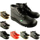 Unisex Kids Infants Kickers Kick Hi Back To School Leather Boots Shoes US 6.5-12