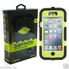Griffin Survivor Tough Rugged Case For iPhone 5/5s - Black/Green NEW Military