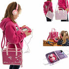 Girls Travel Pink Violet PU Handbag + Headphones Bundle for Vtech Innotab 3 Plus