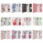 "Floral Pattern Leather Flip Case Cover For Mobile Phones 4"" to 5.5"" 4.5"" 4.7"" 5"""