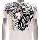 a36w Artful T-shirt M L XL  XXL Tattoo Skull Ghost Tiger Dragon Yin Yan Yakuza