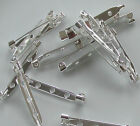 Jewellery Craft Design - Findings Silver Plated 38mm Brooch Pin Bar Back Backs