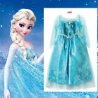 Princess Elsa Anna Queen Costume Dress Christmas Garden Party Dresses SIZE 3-8Y