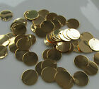 Jewellery Craft Design Gold Plated Flat Disc Charm Pendant Bead 12mm PACKS