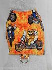 DOG CAT FERRET Harness~BORN TO RIDE Harley Bad to Bone Flame Rocker Motorcycle
