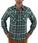 NEW LEVI'S MEN'S CLASSIC LONG SLEEVE BUTTON UP SHIRT PLAID GREEN 3LYLW0062CC