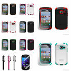 For Samsung Galaxy Centura S738C Dual Heavy Duty Silicone Solid Hard Case Cover