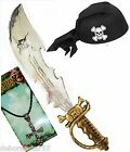 Adult Pirate Costume Pirate Sword Hat Cross Mens Womens Pirate Fancy Dress