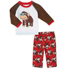 Little Me Boys 2 Piece Nerdy Monkey Applique Raglan Long Sleeve Top & Printed Pa