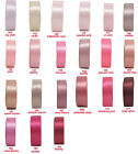"""5y 10y 25mm 1"""" Pink Shades Double Sided Satin Ribbon Craft Holiday Eco Premium"""