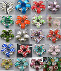 10pcs Pretty Silver Core Murano Lampwork Glass Beads Fit Charm Bracelet DIY Gift