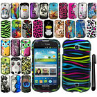 For Samsung Galaxy Stellar Jasper I200 Rubberized PATTERN HARD Case Cover + Pen