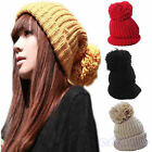 Women's Lady Winter Warm Knitted Crochet Slouch Baggy Beanie Hat Cap 3 Colors