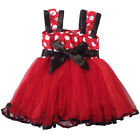 New Girls Baby Kids Toddlers 3-20M Princess Polka Dot Dress Layered Tutu Costume