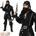Deluxe Men's Plundering Pirate Halloween Fancy Dress Costume Adult Outfit - New