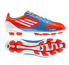 New Mens Adidas F5 F50 TRX HG White Blue Football Boots Trainers Size 6-11