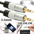 PURE 3.5mm Stereo Jack to Jack AUX Cable Audio Auxiliary Lead Gold OFC 1M 2M 3M