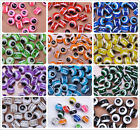 Внешний вид - Wholesale 30PCS 100pcs Evil Eye Stripe Round loose bead Resin Spacer Beads 8MM
