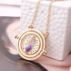 Harry Potter Hermione Granger Rotating Time Turner Necklace Gold Hourglass 12j0