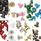 5 Colored Metal 5mm x 3mm Long Rivets For Embellishing Leather fits 3.5-5mm Hole