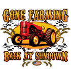 "Farmer Tractor  "" GONE FARMING BACK AT SUNDOWN "" T SHIRT 50/50"