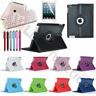 For New Apple iPad 4 3 2 Rotating Leather Case Smart Cover + Bluetooth Keyboard