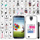 For Samsung Galaxy S4 I9500 I9505 I337 Cute Design PATTERN HARD Case Cover + Pen