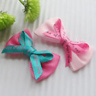 10/40/100/240PCS  Ribbon  Bows Flowers W/ Rhinestone Appliques Craft LotsE260