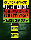 Spooky Warning Tape - Twin Pack - Halloween Party Decorations - New