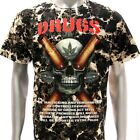 b110 Survivor T-shirt Sz M Tattoo STUD Skull Grim Ghost Gun Demon Fatboy Fashion