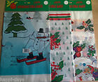 NEW SEALED - CHRISTMAS PLASTIC TABLE COVER - Xmas Tablecloths - 137cm x 183cm
