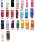 "100mm 4"" Premium Double Sided Satin Ribbon Sash Extra Wide Heavy Eco CLEARANCE"
