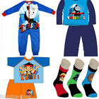 BOYS PYJAMA ONESIE KIDS FROZEN JAKE & THE PIRATES THOMAS THE TANK SPIDERMAN
